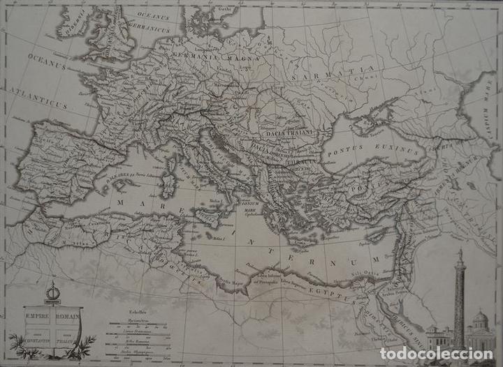 Arte: Mapa del Imperio Romano, 1845. Chamouin - Foto 2 - 84824384