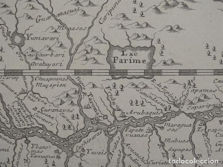 Arte: Mapa del curso del río Amazonas o Marañon (Brasil-Perú, América del sur), 1781. Samuel Fritz - Foto 3 - 84828620