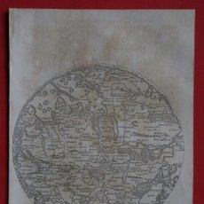 Arte: MAPA - MUNDI DE FRA - MAURO - GRABADO ORIGINAL DE 1856 - 240X155MM. Lote 85314880