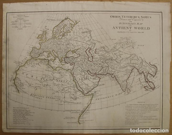 MAPA DEL MUNDO ANTIGUO, 1788. ANVILLE (Arte - Cartografía Antigua (hasta S. XIX))