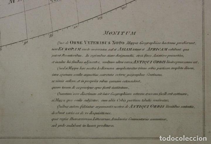 Arte: Mapa del mundo Antiguo, 1788. Anville - Foto 8 - 85366540