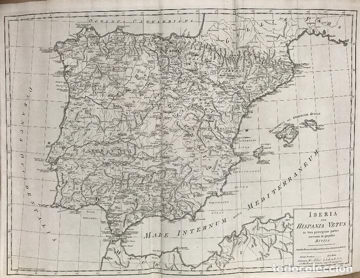 GRAN MAPA DE ESPAÑA Y PORTUGAL ANTIGUOS, 1768. THOMAS KITCHIN/BLAIR (Arte - Cartografía Antigua (hasta S. XIX))