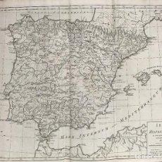 Arte: GRAN MAPA DE ESPAÑA Y PORTUGAL ANTIGUOS, 1768. THOMAS KITCHIN/BLAIR. Lote 85366572