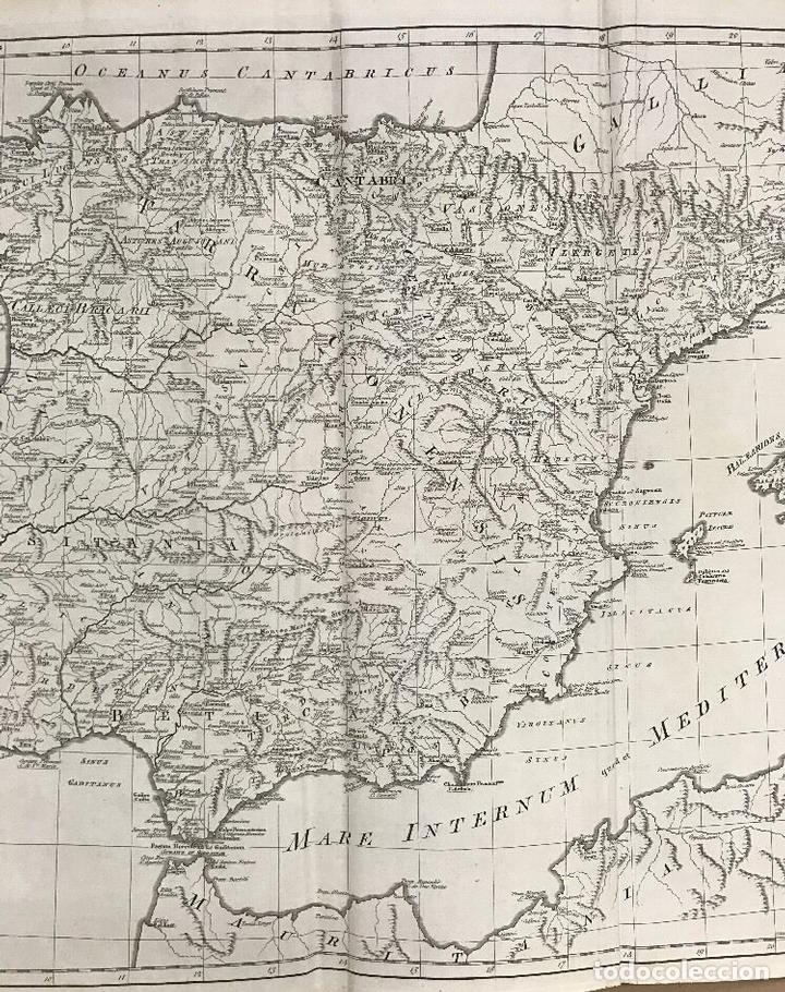 Arte: Gran mapa de España y Portugal antiguos, 1768. Thomas Kitchin/Blair - Foto 3 - 85366572
