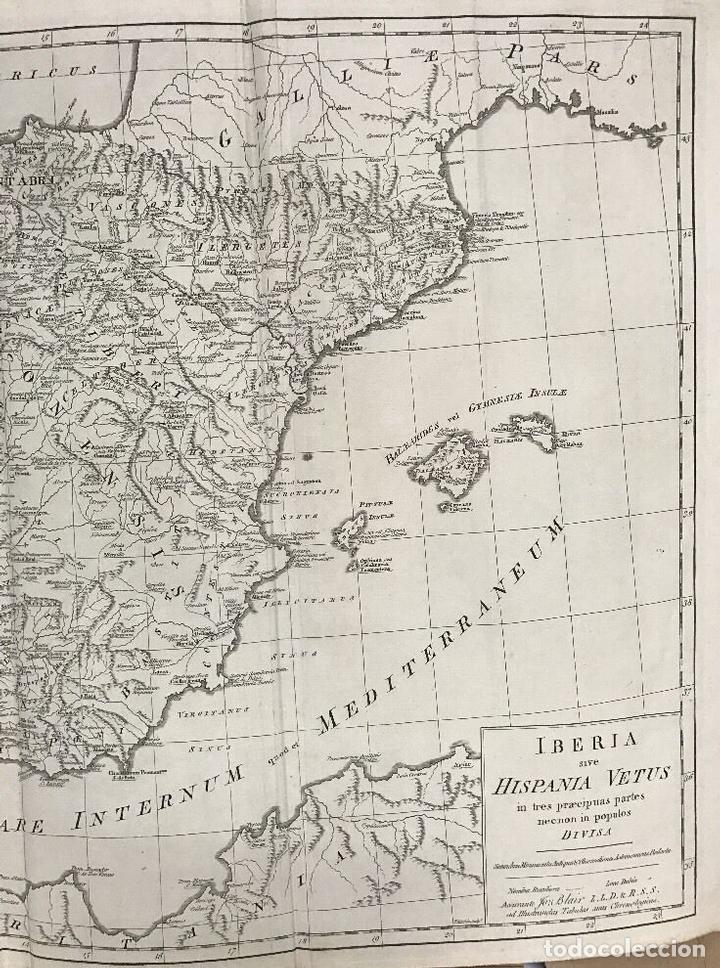 Arte: Gran mapa de España y Portugal antiguos, 1768. Thomas Kitchin/Blair - Foto 4 - 85366572