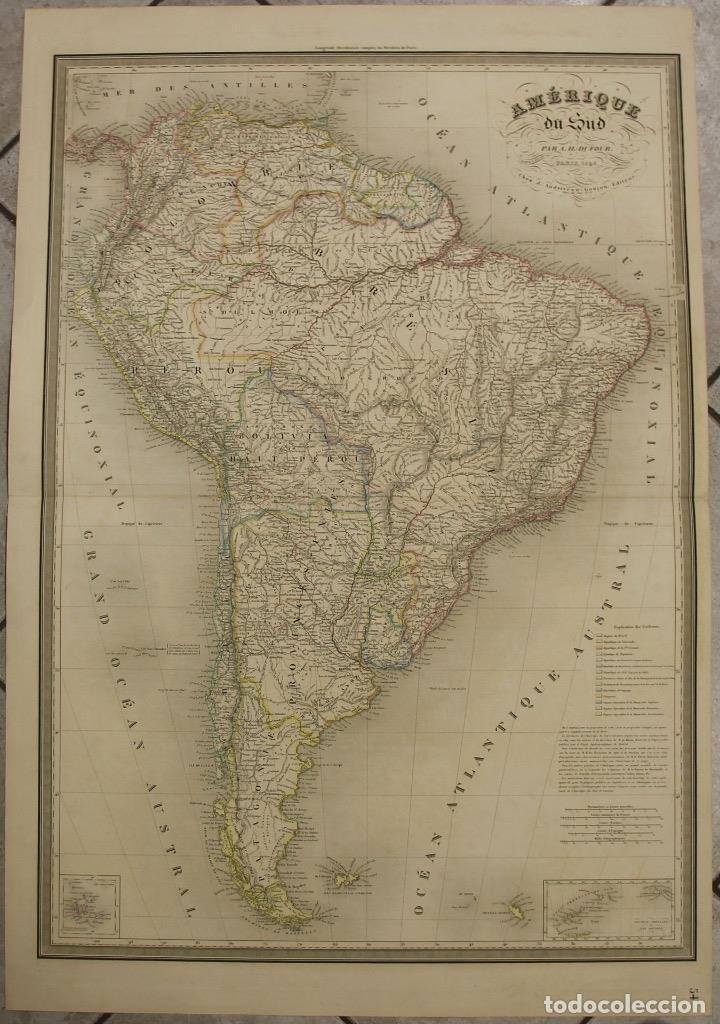 GRAN MAPA DE AMÉRICA DEL SUR, 1840. DUFOUR/ANDRIVEAU-GOUJON (Arte - Cartografía Antigua (hasta S. XIX))