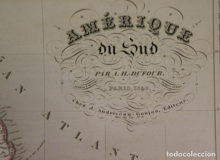 Arte: Gran mapa de América del Sur, 1840. Dufour/Andriveau-Goujon - Foto 2 - 85407772