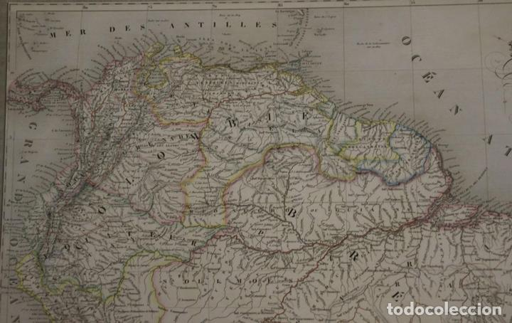 Arte: Gran mapa de América del Sur, 1840. Dufour/Andriveau-Goujon - Foto 3 - 85407772