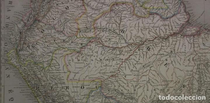 Arte: Gran mapa de América del Sur, 1840. Dufour/Andriveau-Goujon - Foto 4 - 85407772