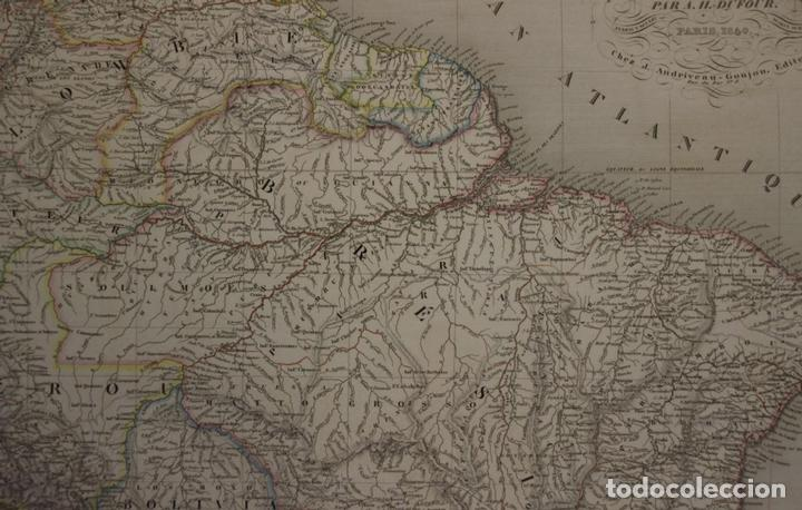 Arte: Gran mapa de América del Sur, 1840. Dufour/Andriveau-Goujon - Foto 5 - 85407772