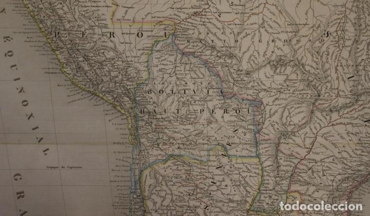 Arte: Gran mapa de América del Sur, 1840. Dufour/Andriveau-Goujon - Foto 6 - 85407772