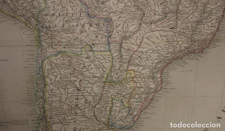 Arte: Gran mapa de América del Sur, 1840. Dufour/Andriveau-Goujon - Foto 8 - 85407772