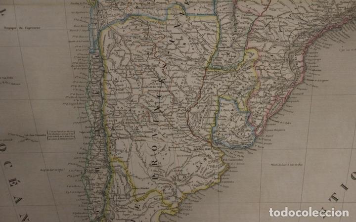 Arte: Gran mapa de América del Sur, 1840. Dufour/Andriveau-Goujon - Foto 9 - 85407772