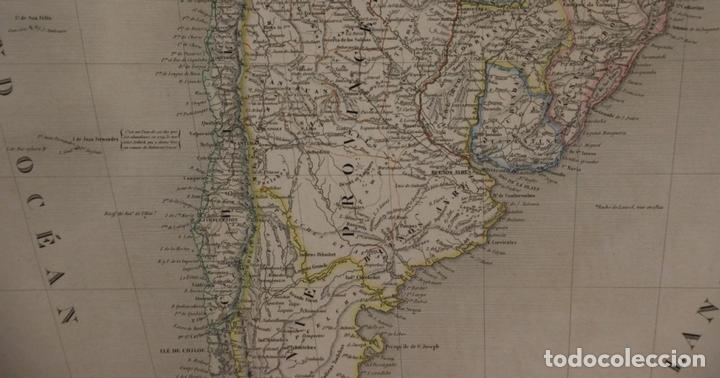 Arte: Gran mapa de América del Sur, 1840. Dufour/Andriveau-Goujon - Foto 11 - 85407772