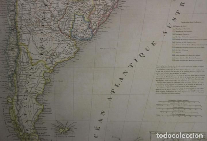 Arte: Gran mapa de América del Sur, 1840. Dufour/Andriveau-Goujon - Foto 14 - 85407772
