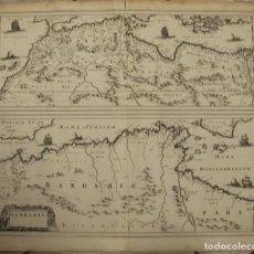 Arte: GRAN MAPA DEL NORTE DE ÁFRICA Y MAR MEDITERRÁNEO, 1662. JANSSONIUS/HORN. Lote 85409972