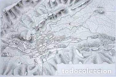 Arte: Plano antiguo Burgos año 1808 con certificado autenticidad. Mapas antiguos Burgos Castilla - Foto 2 - 86097960