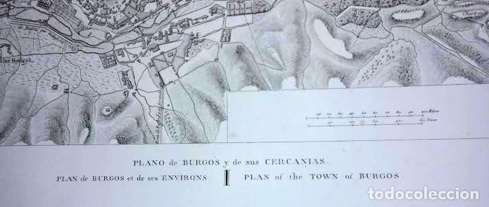 Arte: Plano antiguo Burgos año 1808 con certificado autenticidad. Mapas antiguos Burgos Castilla - Foto 4 - 86097960