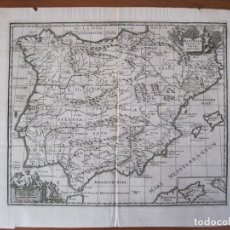 Arte: MAPA DE ESPAÑA Y PORTUGAL ANTIGUOS, 1729. CLÜVER. Lote 86118636