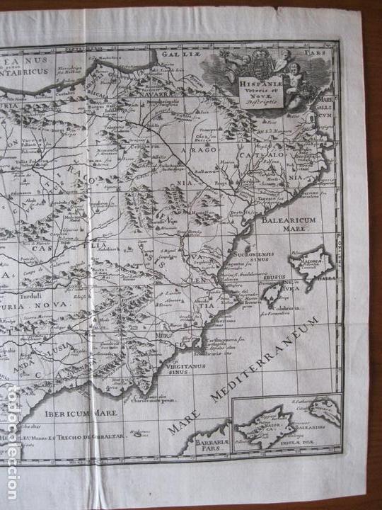 Arte: Mapa de España y Portugal antiguos, 1729. Clüver - Foto 3 - 86118636