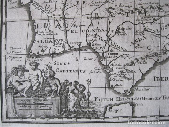 Arte: Mapa de España y Portugal antiguos, 1729. Clüver - Foto 4 - 86118636