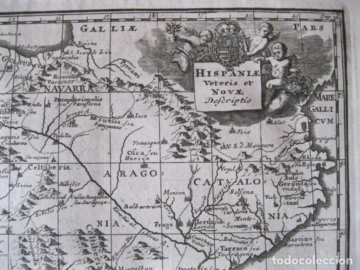 Arte: Mapa de España y Portugal antiguos, 1729. Clüver - Foto 5 - 86118636