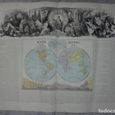 Arte: MAPA MUNDI. GRABADOS. 1877. ESCALA 116.000.000. ASTORT HERMANOS, EDITORES. 86 X 61,4 CM. VER FOTOS.. Lote 86246832