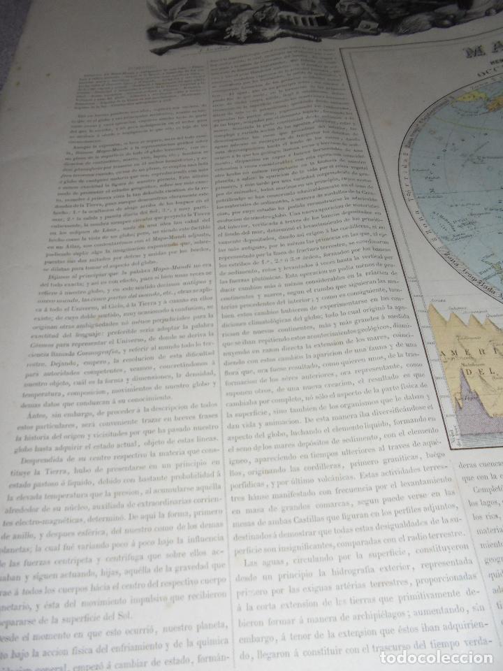 Arte: MAPA MUNDI. GRABADOS. 1877. ESCALA 116.000.000. ASTORT HERMANOS, EDITORES. 86 X 61,4 CM. VER FOTOS. - Foto 3 - 86246832