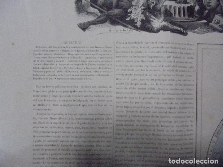 Arte: MAPA MUNDI. GRABADOS. 1877. ESCALA 116.000.000. ASTORT HERMANOS, EDITORES. 86 X 61,4 CM. VER FOTOS. - Foto 5 - 86246832
