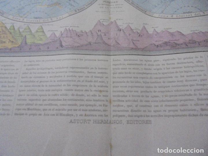 Arte: MAPA MUNDI. GRABADOS. 1877. ESCALA 116.000.000. ASTORT HERMANOS, EDITORES. 86 X 61,4 CM. VER FOTOS. - Foto 12 - 86246832