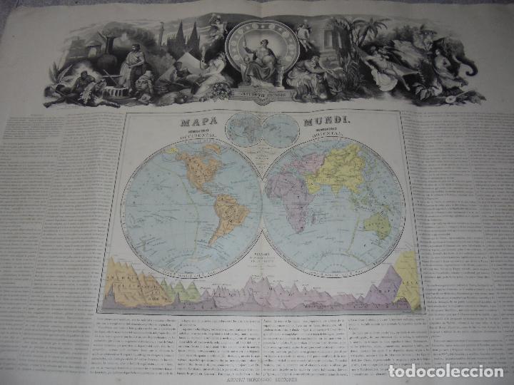 Arte: MAPA MUNDI. GRABADOS. 1877. ESCALA 116.000.000. ASTORT HERMANOS, EDITORES. 86 X 61,4 CM. VER FOTOS. - Foto 13 - 86246832