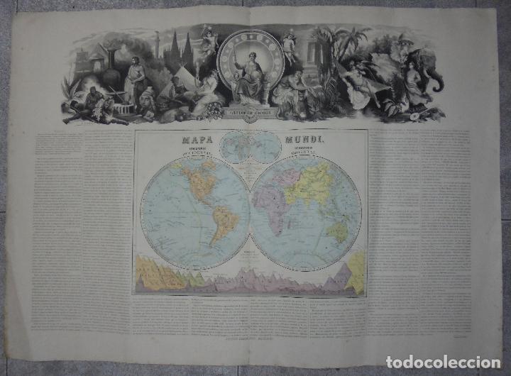 Arte: MAPA MUNDI. GRABADOS. 1877. ESCALA 116.000.000. ASTORT HERMANOS, EDITORES. 86 X 61,4 CM. VER FOTOS. - Foto 14 - 86246832