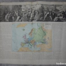 Art: MAPA EUROPA. GRABADOS. 1877. ESCALA 1:20.000.000. ASTORT HERMANOS, EDITORES. 86X61,4 CM. VER FOTOS.. Lote 86247252