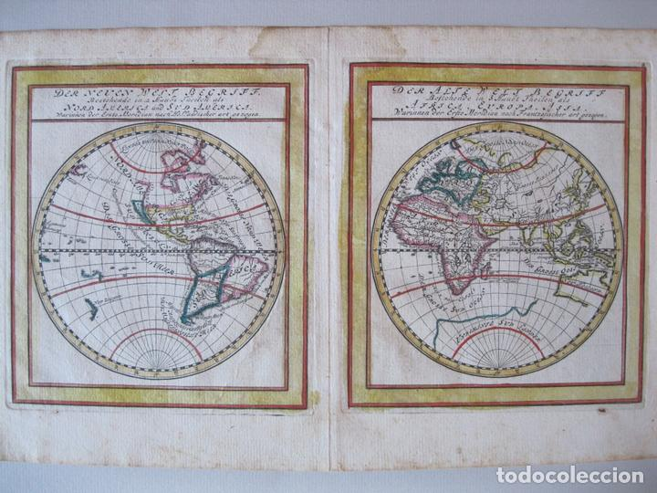 MAPA DEL MUNDO, 1715. BODENEHR (Arte - Cartografía Antigua (hasta S. XIX))