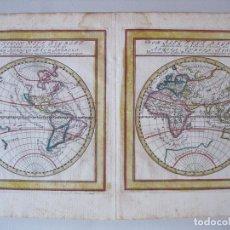 Arte: MAPA DEL MUNDO, 1715. BODENEHR. Lote 86594756