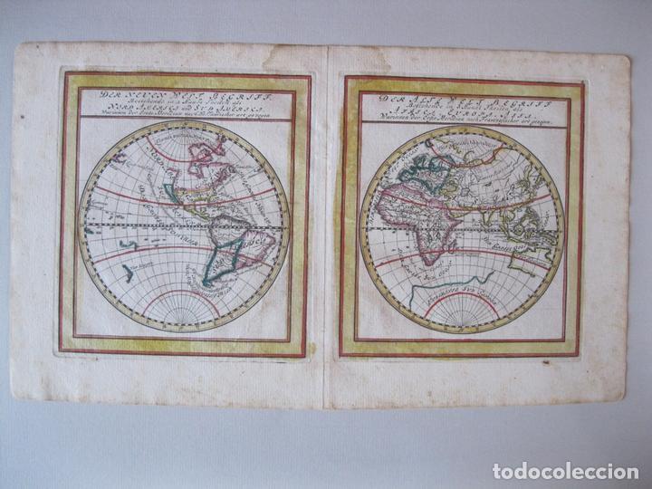 Arte: Mapa del Mundo, 1715. Bodenehr - Foto 2 - 86594756