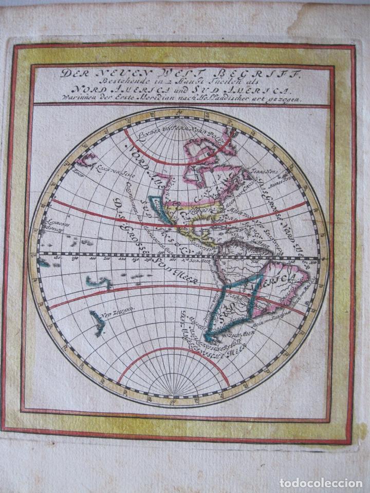 Arte: Mapa del Mundo, 1715. Bodenehr - Foto 3 - 86594756