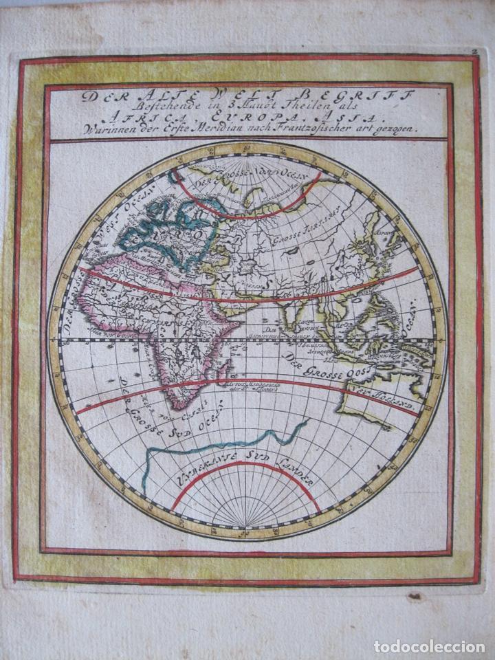 Arte: Mapa del Mundo, 1715. Bodenehr - Foto 4 - 86594756