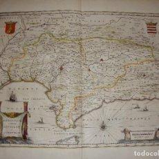 Arte: MAPA GRABADO DE ANDALUCÍA DEL SIGLO XVII. ANDALVZIA CONTINENS SEVILLAM ET CORDVBAM.. Lote 86865020