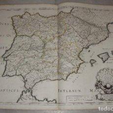 Arte: MAPA GRABADO DE ESPAÑA. HISPANIAE ANTIQUA TABULA. 1641. N. SANSON.. Lote 86869032
