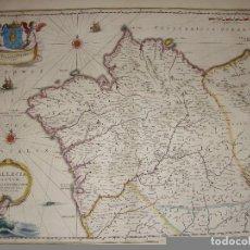 Arte - Mapa Grabado de Galicia del S.XVII. GALLAECIA REGNUM. 1650. Excelente estado. - 86871108