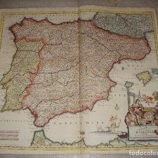 Arte: MAPA GRABADO DE ESPAÑA. S.XVII. TOTIUS REGNI HISPANIA TABULA PER IUSTINUM DANCKERTS. 1680. Lote 86874900