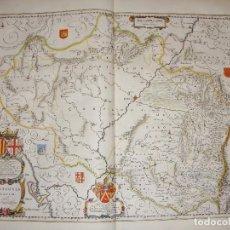 Arte: MAPA GRABADO DE ARAGON. ARRAGONIA REGNUM. 1640.. Lote 86954372