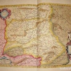 Arte: MAPA GRABADO DE CASTILLA. CASTILLA VETERIS ET NOVA DESCRIPTIO. FECHADO EN 1606. Lote 86954836