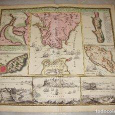 Arte: MAPA GRABADO DE GIBRALTAR CADIZ TANGER CEUTA. 1720. HOMANN.. Lote 86957068