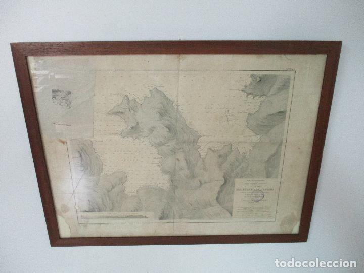 ANTIGUA CARTA NÁUTICA - PLANO DEL PUERTO DE CABRERA -ISLAS BALEARES Y MALLORCA -AÑO 1893 -CON ANEXO (Arte - Cartografía Antigua (hasta S. XIX))