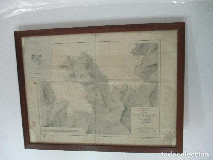 Arte: Antigua Carta Náutica - Plano del Puerto de Cabrera -Islas Baleares y Mallorca -Año 1893 -con Anexo - Foto 2 - 87787760