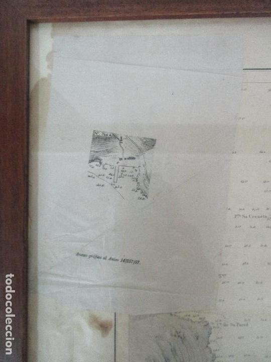 Arte: Antigua Carta Náutica - Plano del Puerto de Cabrera -Islas Baleares y Mallorca -Año 1893 -con Anexo - Foto 4 - 87787760