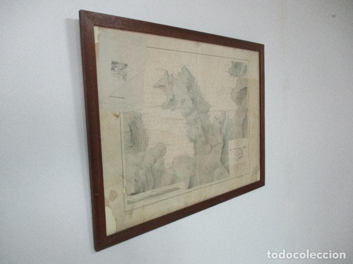 Arte: Antigua Carta Náutica - Plano del Puerto de Cabrera -Islas Baleares y Mallorca -Año 1893 -con Anexo - Foto 11 - 87787760