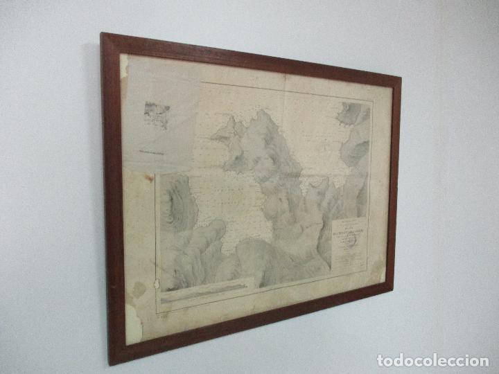 Arte: Antigua Carta Náutica - Plano del Puerto de Cabrera -Islas Baleares y Mallorca -Año 1893 -con Anexo - Foto 14 - 87787760